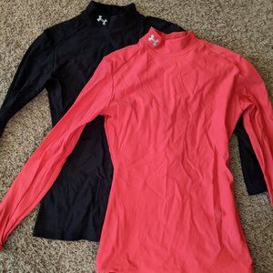 2 XS Under Armour Base Layers - Pink & Black